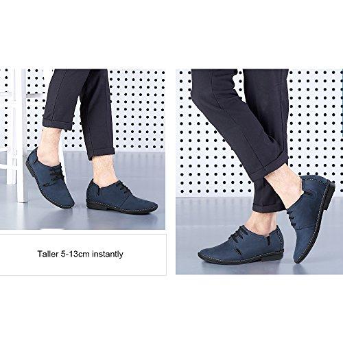 CHAMARIPA Cordones 6 Azul Azul de Alto 5 Zapatos más y con Hombre X58H56 Negro cm Cuero rFCrAqxRw