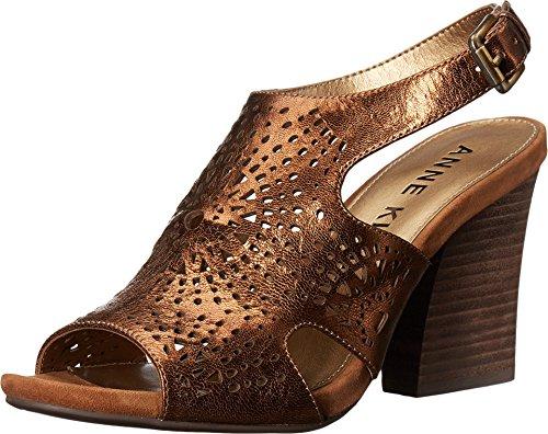 Anne Klein Women's Briella Leather Wedge Sandal, Bronze, 8.5 M US