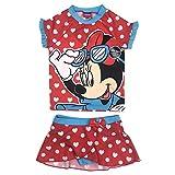 Disney Girls' Minnie Mouse UPF 50+ Rash Guard Swim Suit (4T)