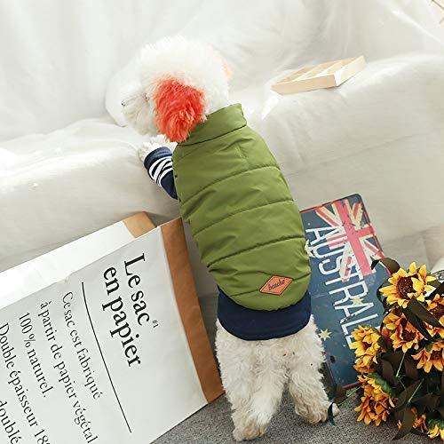 Doggy Costume Forniture per animali Varie Vestiti per cani autunno e inverno Giappone e Corea del Sud forniture per animali domestici maglia di cotone vestiti spessi cane (colore  verde, Taglia  L) Ve