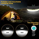 ProGreen Wireless Rechargeable LED Camping Light, LED Hanging Lantern Lights & Power Bank Charger 6000mAh, Outdoor LED Flashlight Tent Emergency Light for Backpacking Camping Hiking Fishing Cycling