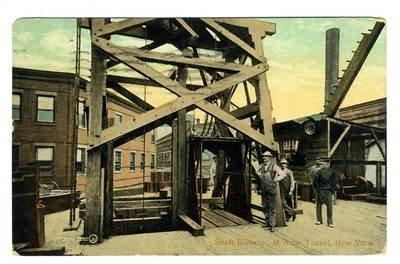 Shaft Elevators of M'Adoo Tunnel Postcard New York City 1908 (Shaft Blank)