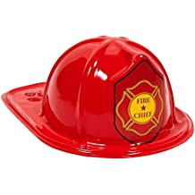 Beistle Child Size Red Plastic Fire Chief Hat