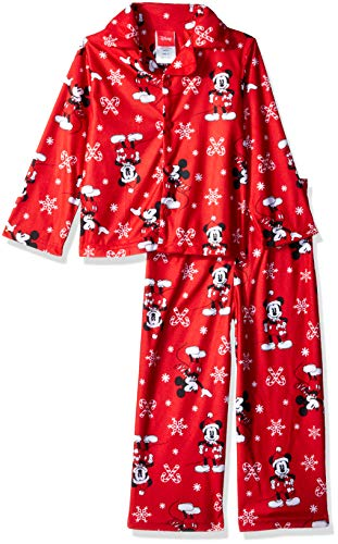 Disney Kids' Toddler Mickey Mouse Holiday Family Sleepwear Collection, Candy Cane, 2T -