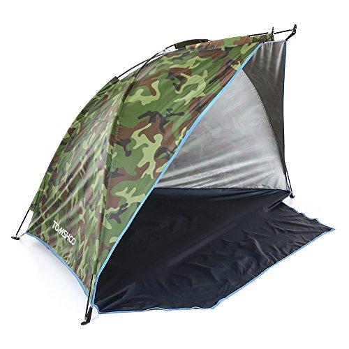 TOMSHOO Familie Tragbares Strand-Zelt , Outdoor Sport Sonnenschirm Zelt zum Angeln Picnic Beach Park