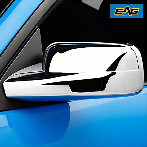 EAG 05-09 Ford Mustang Mirror Covers Triple Chrome Plated ABS (65-0302) ()