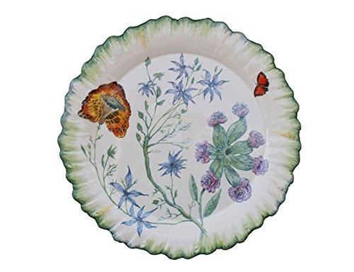 Faïencerie de Niderviller  Botanische Folien – rel6626, Cafeti&eGröße;re Renaissance  Assiette plate ronde