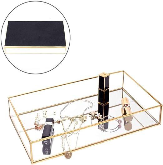 Amazon Com Yokay Mirror Perfume Tray Mirrored Gold Decorative