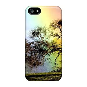 Awesome LastMemory Defender Tpu Hard Case Cover For Iphone 5/5s- Rainbow Tree