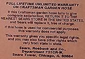 Customer image  sc 1 st  Amazon.com & Amazon.com : Craftsman Premium Rubber Garden Hose 50FT. x 5/8. inch ...