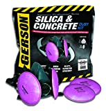 Gerson Silica & Concrete Dust Respirator Kit with Pancake Filters - Signature Pro Series (Medium)