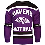 FOCO Baltimore Ravens Ugly Glow in The Dark Sweater - Mens - Mens Extra Large