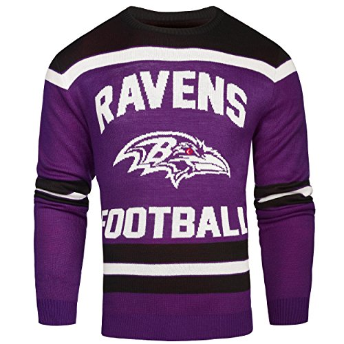 FOCO Baltimore Ravens Ugly Glow in The Dark Sweater - Mens - Mens Extra Large by FOCO