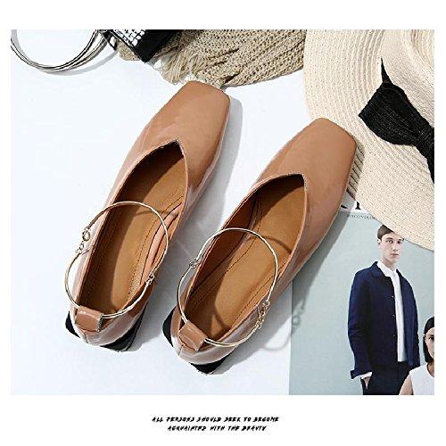 En La Color Mujer Cabeza Cuadrada GAOLIM Zapatos Mujer De De De De Y Zapatos De Mujer Mujer Primavera Zapatos Zapatos Singles Femeninos Zapatos Mujer Zapatos De Bajos Con De 5dnRqOnf7