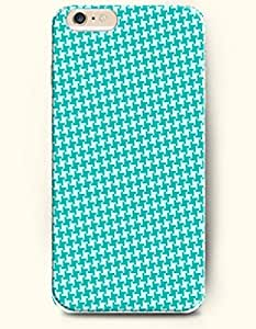 HOUNDSTOOTH- OOFIT Case for Apple iPhone 6 (4.7inch) - Blue White Houndstooth Pattern
