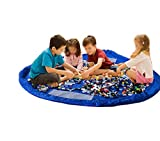 Kids Storage,Play Mat,Play & Storage Mat Ideal for Lego, Duplo & Other Children's Toys for Faster Cleanup/Portable Toy Storage Bag and Kids Play Mat Toys Organizer by Greenery