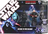 : Star Wars Saga 2008 The Force Unleashed Exclusive Commemorative Collection Emperor Palpatine with Shadow Stormtroopers
