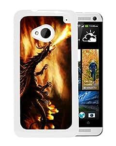 Fashion Designed Dragon 6 White HTC ONE M7 Phone Case