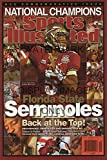 Jameis Winston Sports Illustrated Autograph Poster - Florida State Seminoles - National Champs