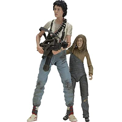 "NECA 30th Anniversary Aliens ""Rescuing Newt"" Scale Action Figure (2 Pack), 7"": Toys & Games"