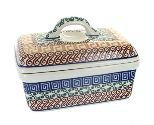 Polish Pottery Athena Butter Tub