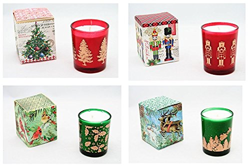 4 Pcs Scented Candle In A Glass - 6