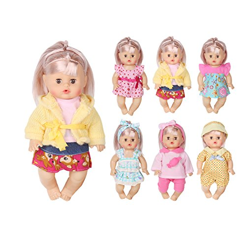 - Huang Cheng Toys Set of 6 For 12 Inch Alive Baby Doll Handmade Lovely Dress Clothes Outfits Costumes