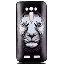 Asus Zenfone 2 Laser(ZE550KL) Case,Gift_Source [Lion] cute Soft TPU Gel Silicone Soft Protective Back Case Slim Scratch-Proof Skin Cover Case for Asus Zenfone 2 Laser 5.5 ZE550KL,ZE551KL