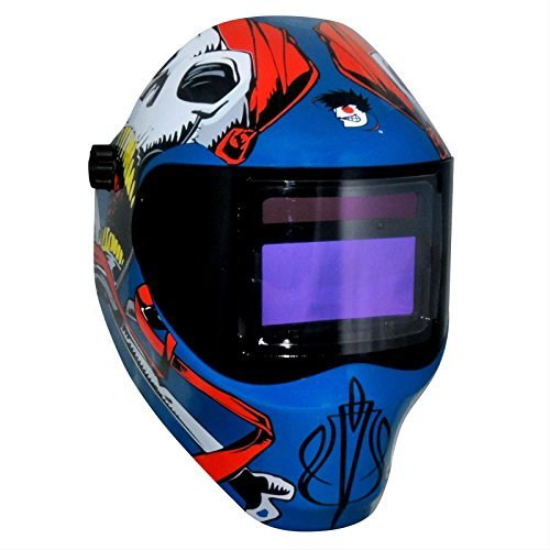 (Save Phace 3011698 Captain Jack Radical Face Protector Pirate Skulls Welding Helmet, Royal Blue by Save Phace)