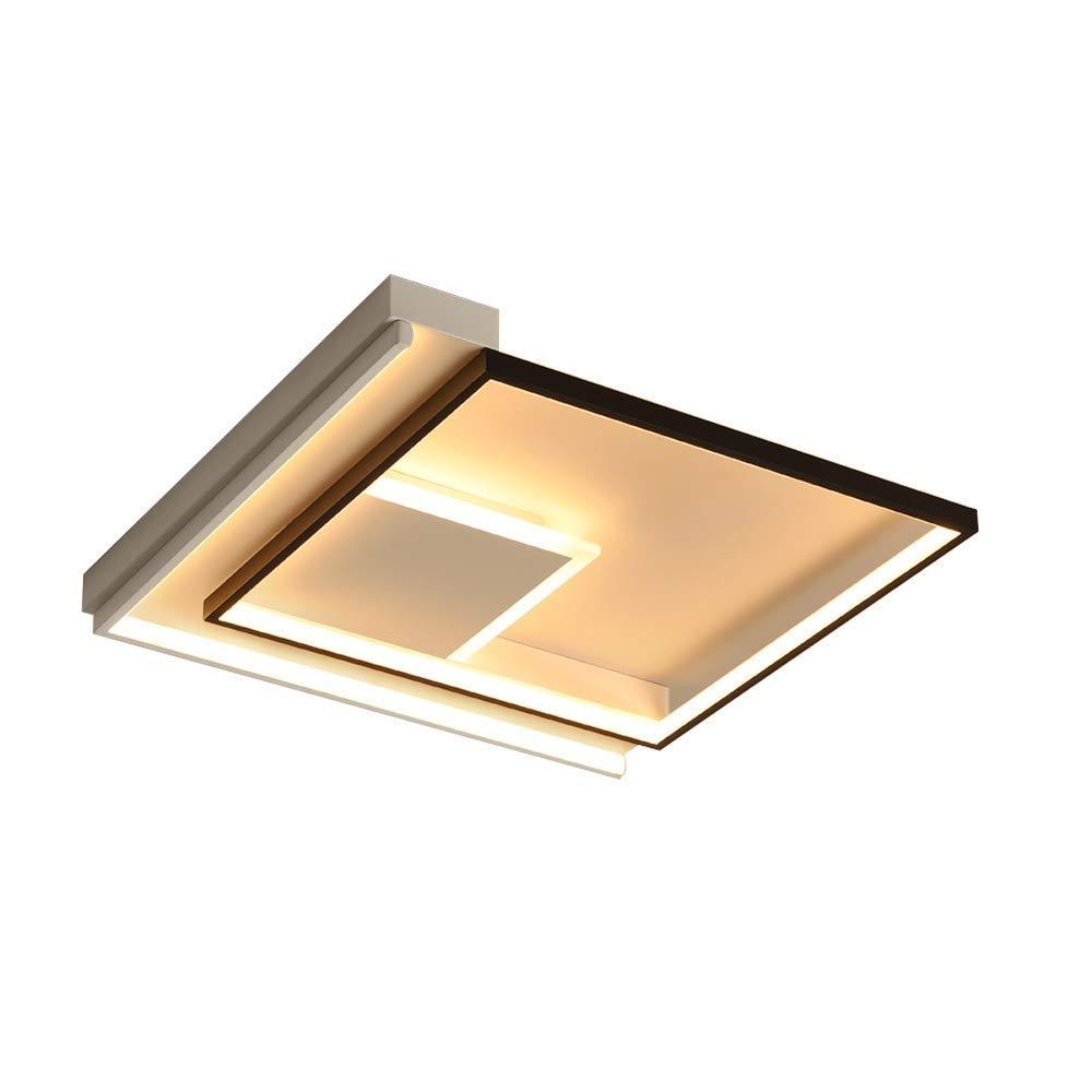 LED ペンダントライト 無段階調光対応 シーリングライト モダンなクリエイティブスクエアデザイン シャンデリア 寝室用リビングルームキッチンダイニングルーム学習照明, 42*42 cm B07SZHBP46