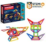 Magformers Designer Set  (62-pieces) Magnetic    Building      Blocks, Educational   Magnetic    Tiles Kit , Magnetic    Construction  shapes STEM Toy Set