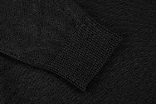 COOFANDY Men's Casual Slim Fit Crewneck Sweater Long Sleeve Basic Knitted Pullover Sweaters (L, Black) by COOFANDY (Image #5)