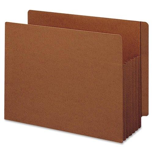 Wholesale CASE of 5 - Smead Tuff Pocket End Tab File Pockets-End Tab File Pockets, 5-1/4'' Exp, 10/BX, Legal, Red