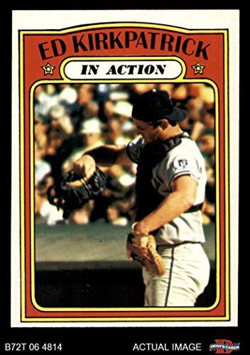- 1972 Topps # 570 In Action Ed Kirkpatrick Kansas City Royals (Baseball Card) Dean's Cards 6 - EX/MT Royals