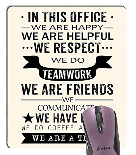 Knseva Inspirational Quotes Office Prints Mouse Pad for Work, We are a Team Motivational Motto Teamwork Art Decor Printing Mouse - Mouse Computer Team