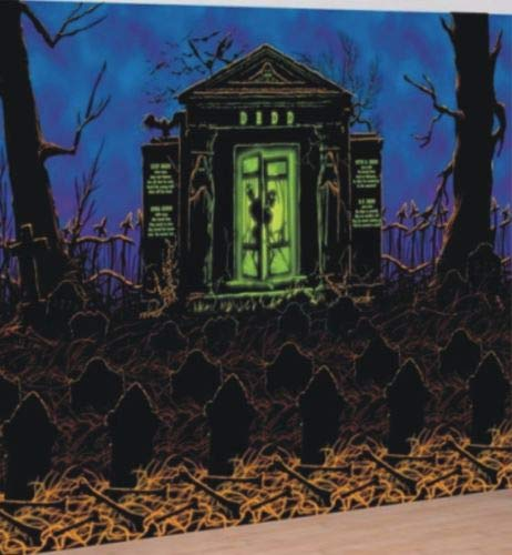 Spooky Crypt Halloween Scene Setter Room Roll Party Complete Decoration Kit ()