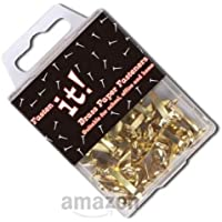 Brass Paper Fasteners - 20mm Long - Pack of 40 (Fasten It brand)
