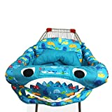 PER 3in1 Shark Shopping Cart Cover/High Chair Cover/Play Mat Protective Cushion Full Safety Harness Universal Fit Foldable For Baby
