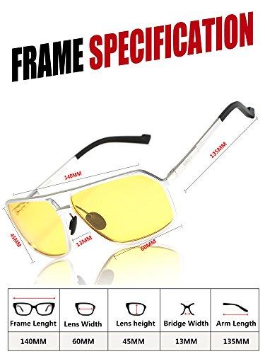 5b65bf8371 SOXICK Mens HD Metal Polarized Night Driving Glasses Sports ...