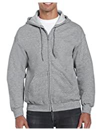 GILDAN Mens Full Zip Hooded Sweatshirt Hooded Sweatshirt