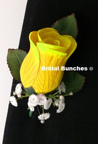 Amazon.com: Bridal Bunches Yellow Rose Boutonniere Prom Wedding ...