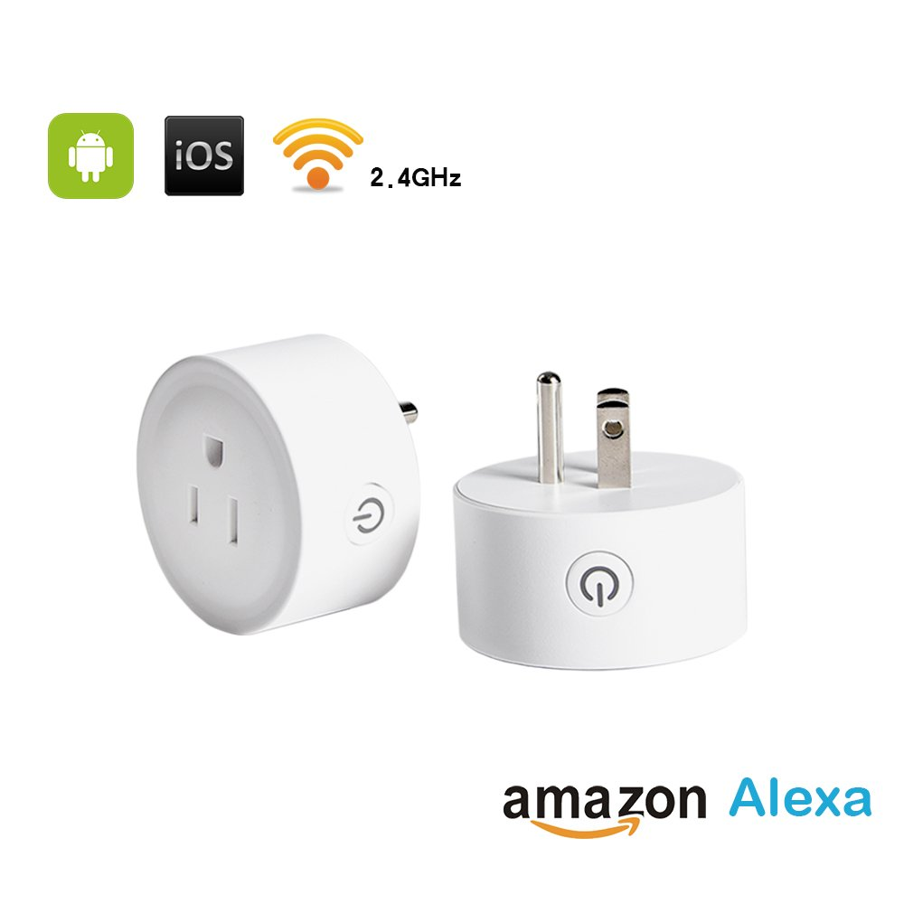 Smart Plug 2 Pack WiFi Enabled Mini Smart Switch Compatiblewith Amazon Alexa & Google Home, No Hub Required, Remote Control Your Devices from Anywhere, ETL Listed(2 Pack)