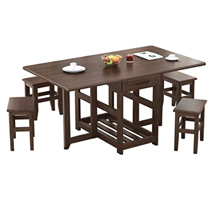 Amazon.com - Modern Foldable Dining Table Household ...