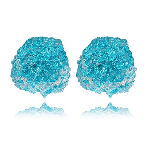 Stud Earrings, Shybuy Fashion Women Creative Candy Color Ear Studs Cracked Ice Rhinestone Earrings (Blue, 25mmx20mm) -