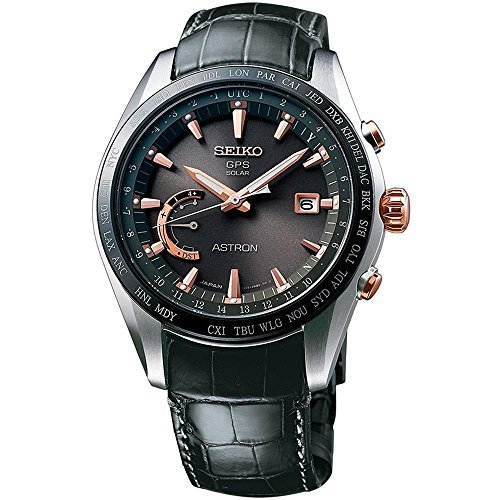 Titanium Calendar Seiko Perpetual (Seiko Astron GPS Solar Titanium Mens Watch SSE095)