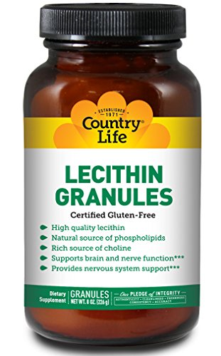 Country Life - High Quality Lecithin Granules - 8 Ounces