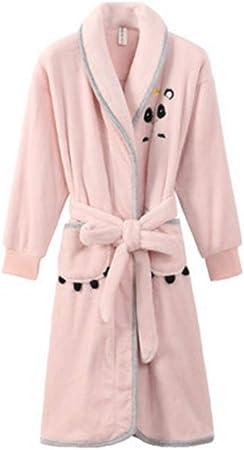 Albornoz Nan Liang Rosa otoño e Invierno Bata de baño 100% algodón camisón Mujer Engrosamiento Pijamas Largo Bata de baño Femenina Cómodo (Tamaño : S): Amazon.es: Hogar