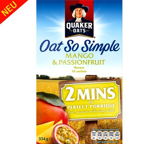 Quaker Toasted Oatmeal Cereal (Quaker Oats - Oat So Simple - Mango & Passionfruit -)