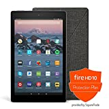 Fire HD 10 Protection Bundle with Fire HD 10 Tablet (64 GB, Black), Amazon Cover (Charcoal Black) and Protection Plan (3-Year)
