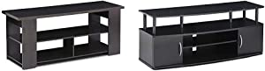 FURINNO Jaya TV Stand & Jaya Large Entertainment Stand for TV Up to 50 Inch, Blackwood